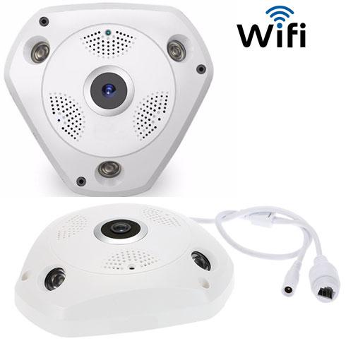 Câmera IP HD Áudio VR 360º 3D Panorâmica WiFi cam 1.3MP - RPC-COMMERCE