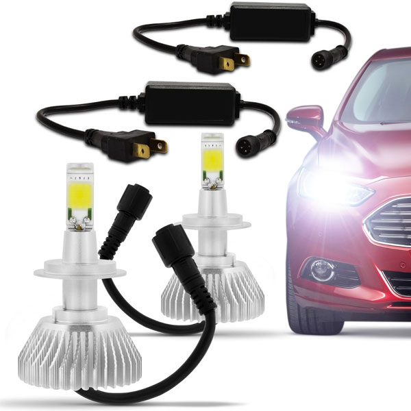 Kit Xenon Super Led Carro H1 H3 H4 H7 H11 6000k 3600LM - RPC-COMMERCE