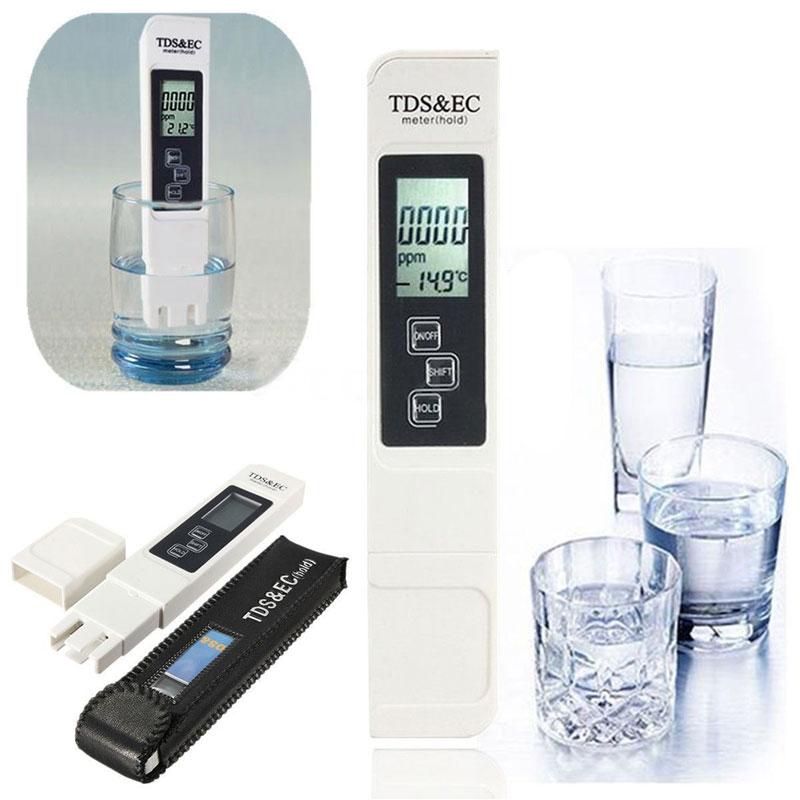 Medidor Condutivímetro Digital TDS+EC Dureza Pureza da Água - RPC-COMMERCE