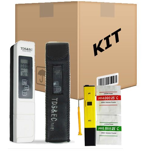 Kit Medidor Digital Tds e EC + Ph P/ Hidroponia Aquario Piscina - RPC-COMMERCE