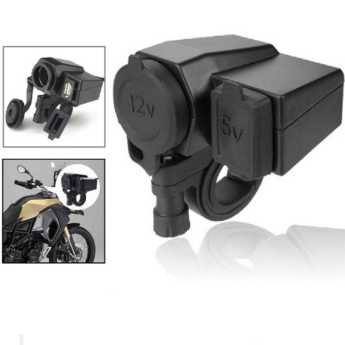 Tomada Carregador  Celular e GPS Para Moto 12v USB 2.1A 5V  - RPC-COMMERCE
