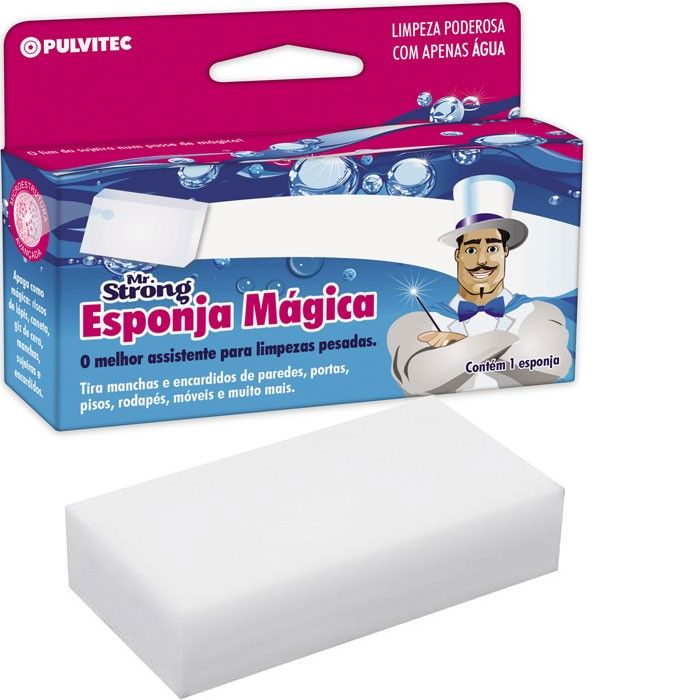 Esponja Mágica Mr Strong Original Limpa Parede Inox - RPC-COMMERCE
