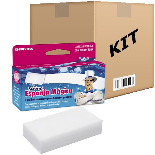 Kit 5 Esponjas Mágicas Mr Strong Original Limpa Parede Inox - RPC-COMMERCE