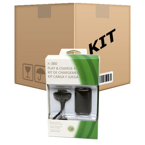 20 Kit Play e Charge para Controle sem fio do XBox 360 - RPC-COMMERCE