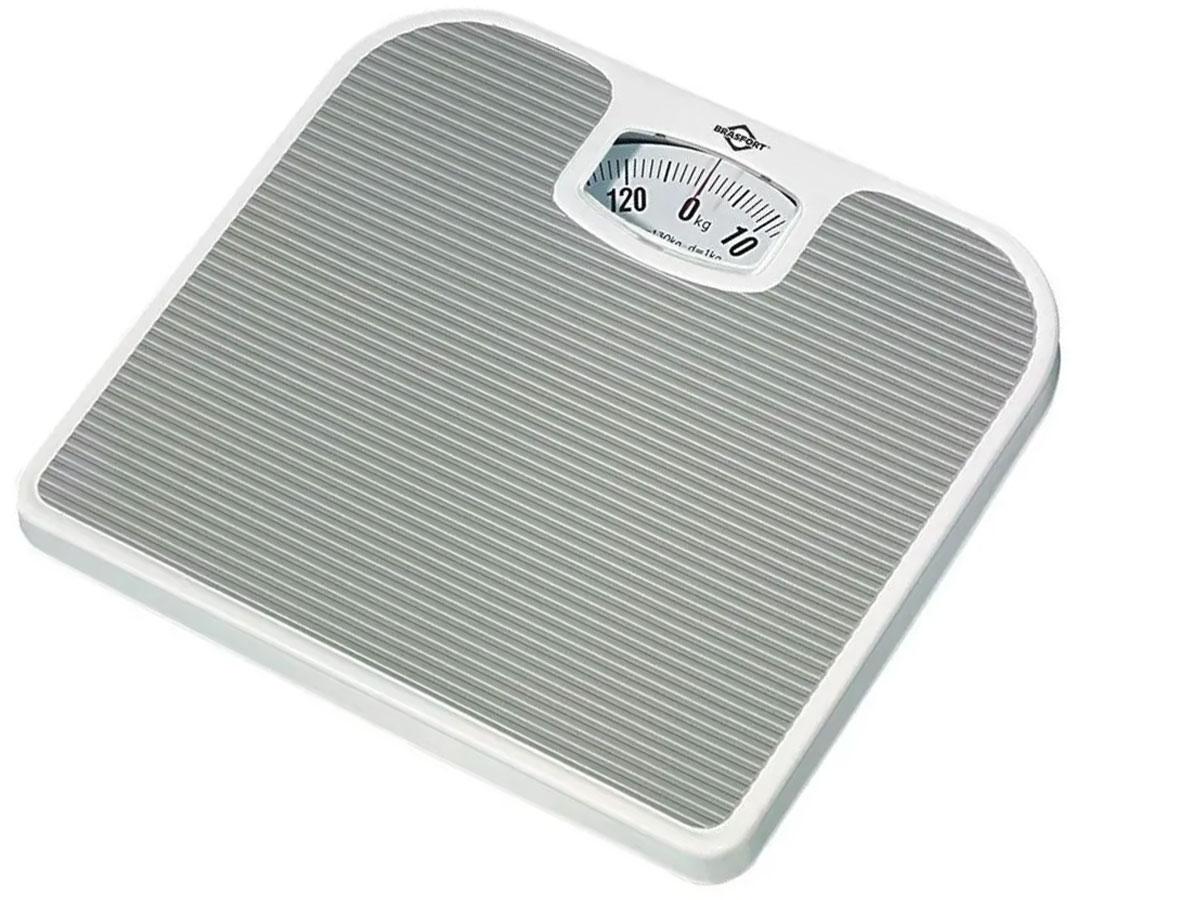 Balança Analógica Brasfort até 130 Kg Antiderrapante Banheiro - RPC-COMMERCE