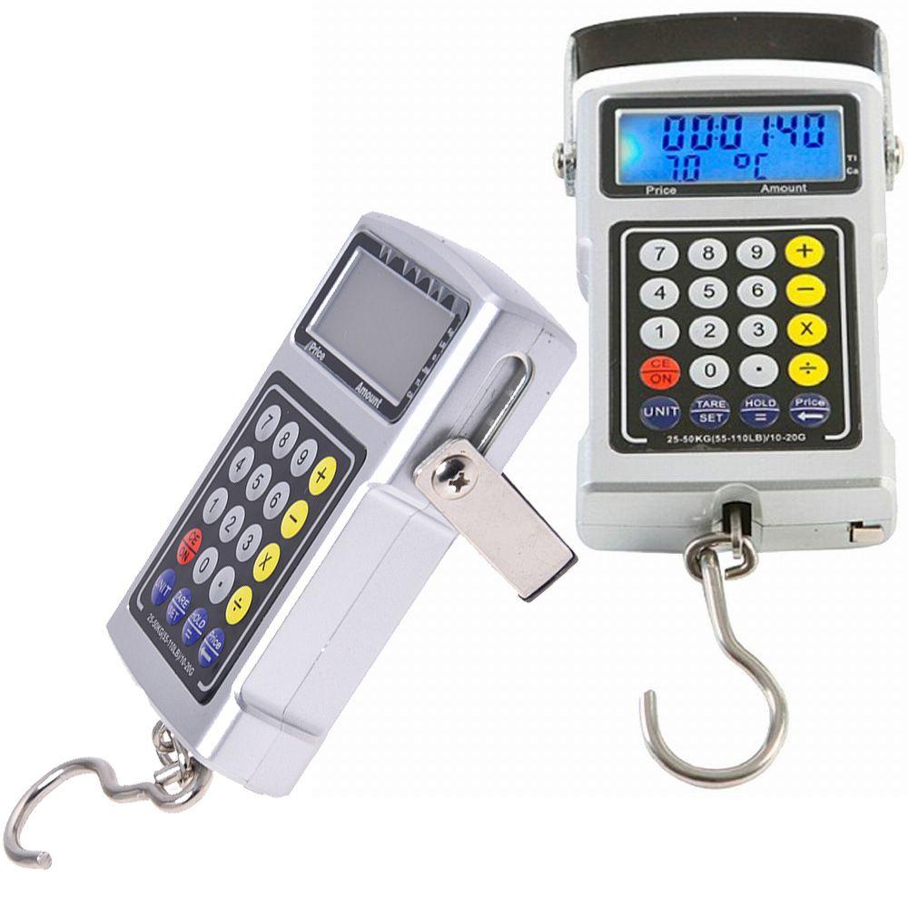 Balança Digital 50kg Termômetro Relógio Trena e Calculadora - RPC-COMMERCE
