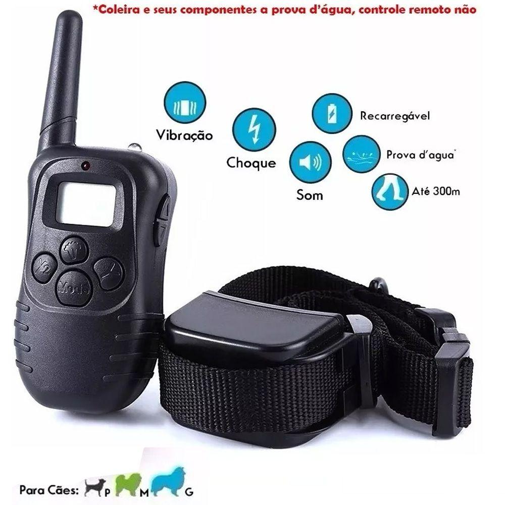 Coleira Adestramento Choque Vibra Para Cães Grandes Pequenos - RPC-COMMERCE