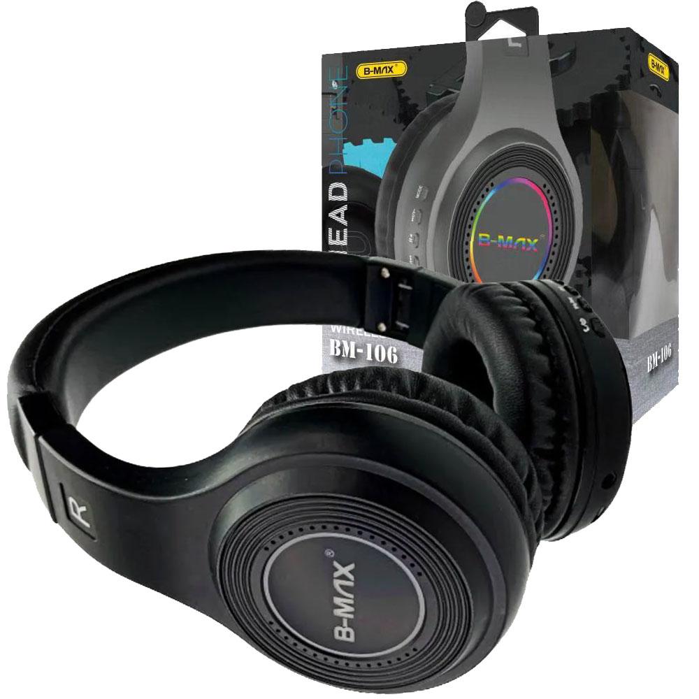 Fone De Ouvido Headphone Bluetooth Sem Fio Micro SD FM BM106  - RPC-COMMERCE