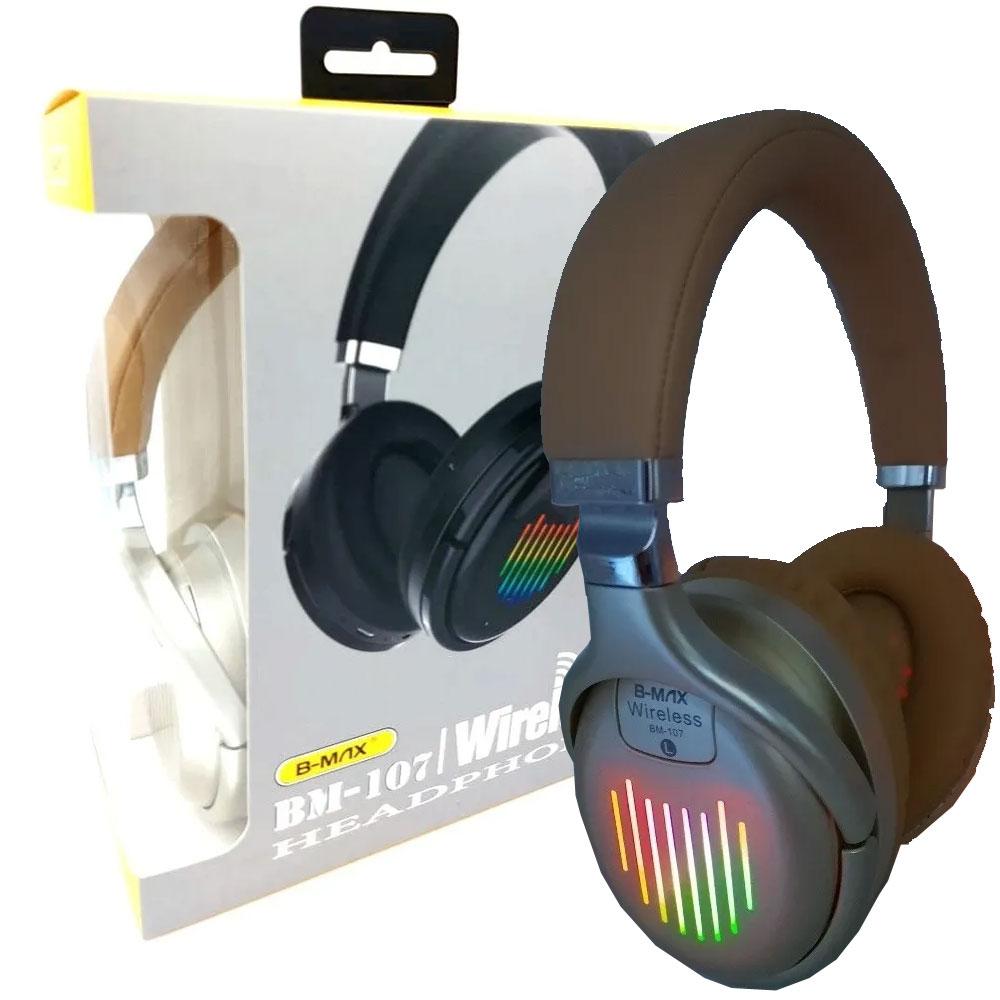 Fone De Ouvido Headphone Bluetooth Sem Fio Micro SD FM BM107  - RPC-COMMERCE