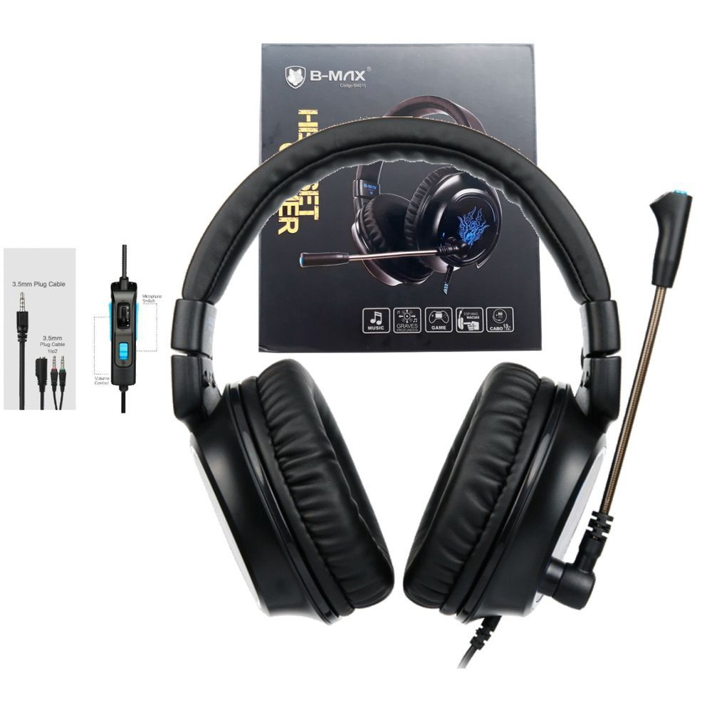 Fone De Ouvido Headset Gamer BMAX R5 7.1 Deep Bass P2 - RPC-COMMERCE
