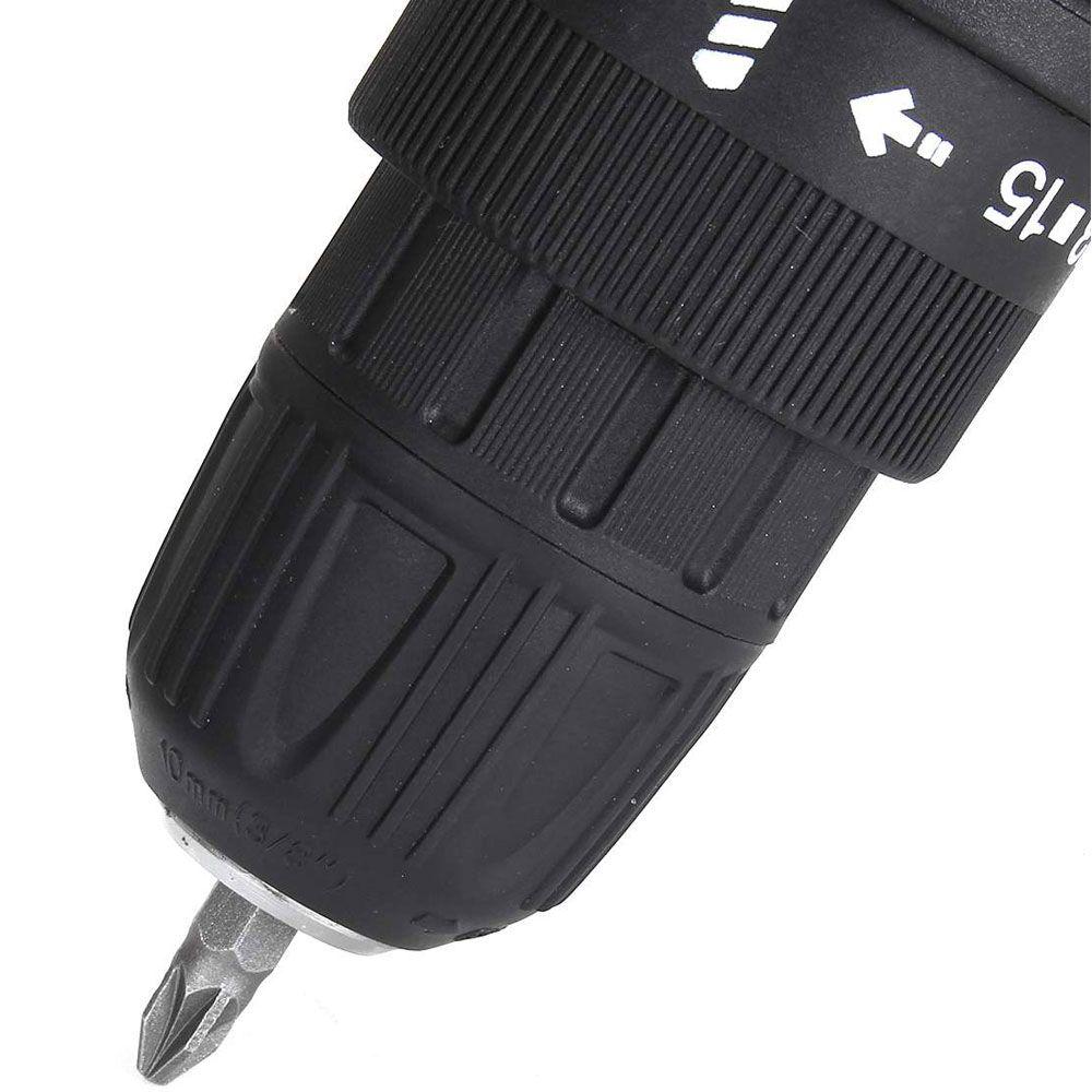 Furadeira Parafusadeira Sem Fio 36V Lanterna 2 Baterias maleta - RPC-COMMERCE