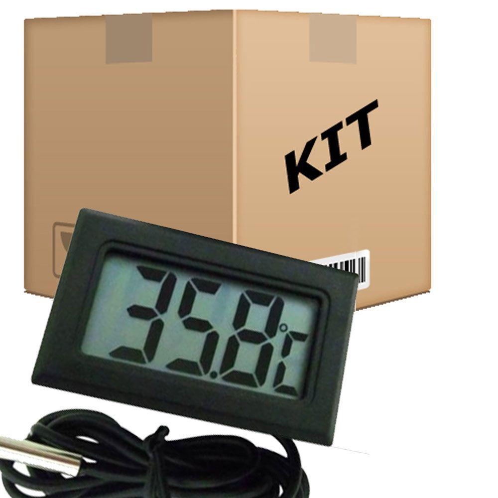 Kit 10 Termômetros Digitais para Aquário Freezer Estufa -50 a 110ºC  - RPC-COMMERCE