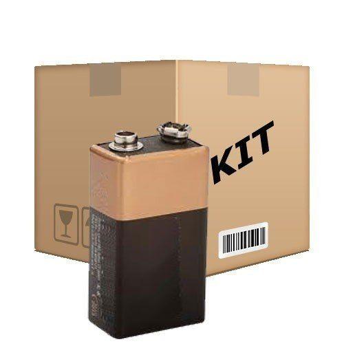 Kit com 100 Baterias 9V Longa Duração - RPC-COMMERCE