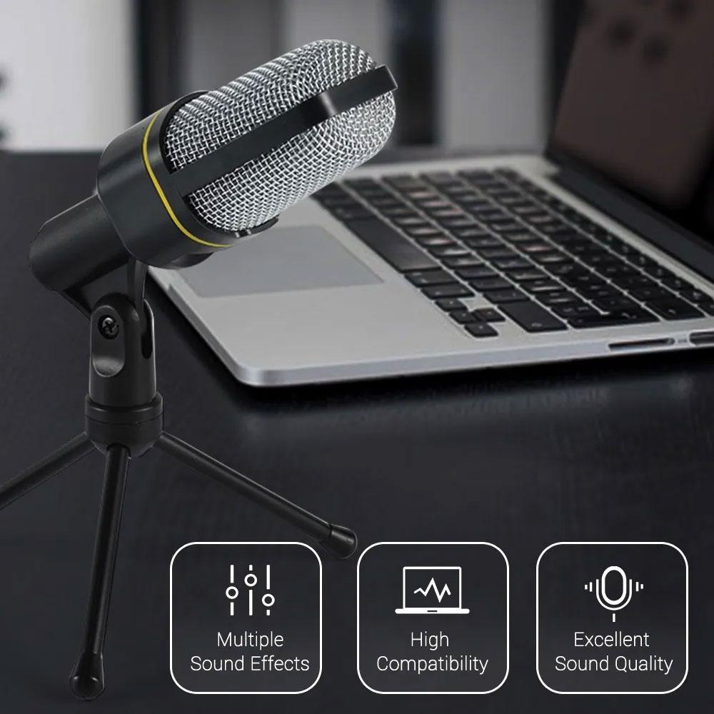 Microfone Estúdio Condensador SF920 omnidirecional preto Tripé - RPC-COMMERCE