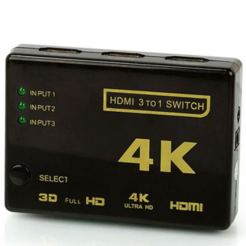Mini Hub Switch Chaveador Seletor HDMI  Controle 3x1 4K HD - RPC-COMMERCE