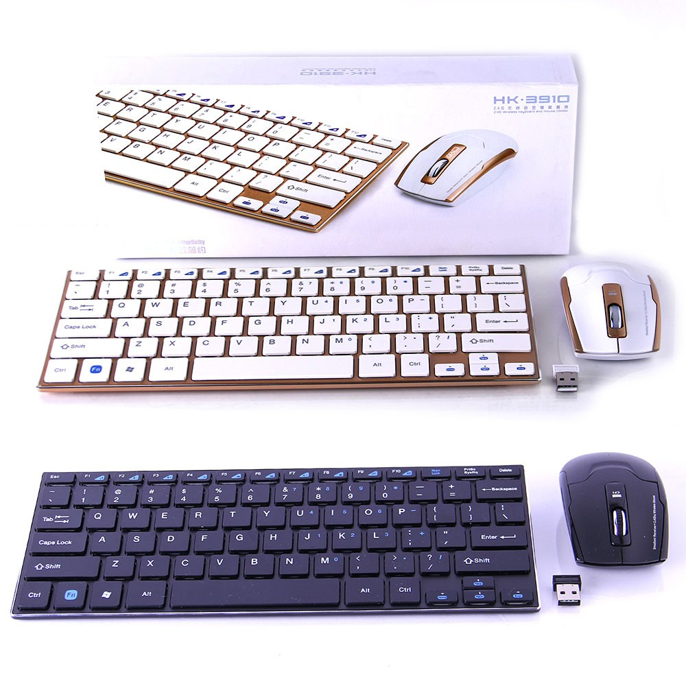 Teclado Mouse S/Fio Ultrafino 2.4ghz Wireless Usb WIFI HK3910 - RPC-COMMERCE