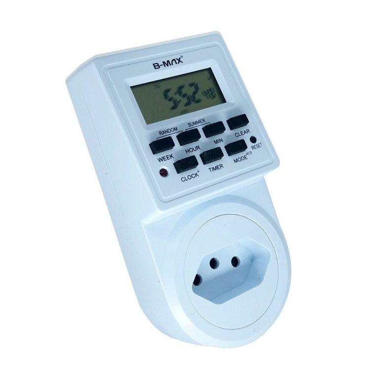 Timer Digital Bivolt Temporizador 9 Programas Liga E Desliga - RPC-COMMERCE
