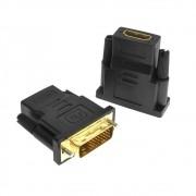 Adaptador DVI 24+1 Macho p/ HDMI Fêmea
