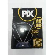 Antena Interna HDTV UHF/VHF/FM c/ Base Pix