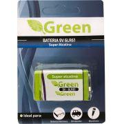Bateria 9V Alcalina 6LR61 Green