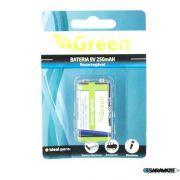 Bateria 9V Recarregável 250Mah Green