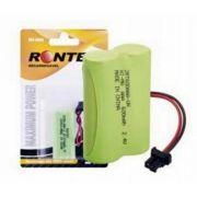 Bateria p/ Telefone S/ Fio 2XAAA 2,4V 600mAh Ni-Mh (Conector Universal) Rontek