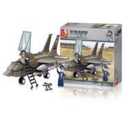 Blocos Air Force Fighter Plane 142Pcs BR907 MultiKids