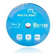 Mídia Blu-ray 25GB 6X Imprimível DV057 Multilaser (unidade)
