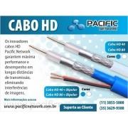 Cabo HD-40  2X18 AWG-75 OHMS-96% Malha Dupla Blindagem CFTV BC c/ 300mts Pacifc Network
