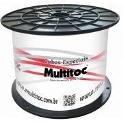 Cabo HD-5 2X24 AWG-75 OHMS-80% Dupla Blindagem CFTV c/ 300mts Multitoc