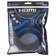 Cabo HDMI 2.0 4K 19 Pinos 5M Chip Sce