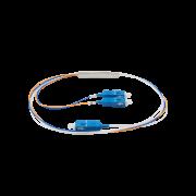 Cabo óptico com divisor PLC (splitter) 1x2 sc/apc xfs 122 intelbras
