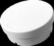 Caixa de Sobrepor p/ Câmera /CFTV Redonda IP66 Tamborim Branca Multitoc