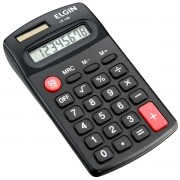 Calculadora de Bolso Solar CB1485 Preta Elgin