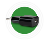 Carregador AC/DC fonte EC1 USB Quick preto intelbras