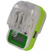 Carregador de Bateria Universal Celular / Camera Digital C/Display de LED Flex