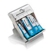 Carregador de Pilhas NI-MH e NI-CD (4 AA e 2 AAA) CB045 Multilaser