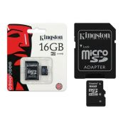 Cartão De Memoria Micro SD 16GB c/ Aadaptador SD Classe 10 Kingston