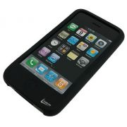 Case Preto de Silicone para iPhone 3G e 3GS LeaderShip 3006