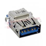 Conector USB PCI A Fêmea 90 Graus Azul