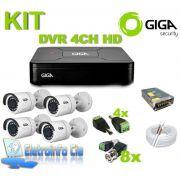 Kit Completo DVR 4 Canais 1080N + 4 Câmeras GS0018 Giga
