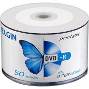 DVD-R 4.7GB 16X Printable c/ 50UN Elgin