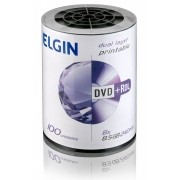Mídia DVD+R 8.5GB 8X Dual Layer Printable c/ 100UN Elgin
