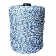 Fio Eletroplástico Cordoalha Aço 15X6 com 500 metros Azul/Branco