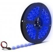Fita de Led Silicone prova d Água Adesiva Azul 5050 c/ 5 Metros