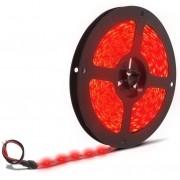 Fita de Led Silicone prova d Água Adesiva Vermelho 5050 c/ 5 Metros