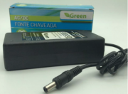 Fonte Chaveada 12V 5A Bi-Vol s/ Cabo AC - PLUG 5 5MM X 2 1MM Chip Sce