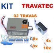 Kit 02 Travas Eletromagnética p/ Portões Eletrônicos c/ Travatec