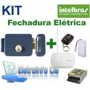 Kit Fechadura Elétrica FX 2000 + Receptor + Controle  + Fonte Intelbras