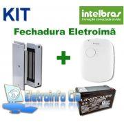 Kit Fechadura Eletroima FE20150 + Fonte FA1220S + Bateria Selada Intelbras